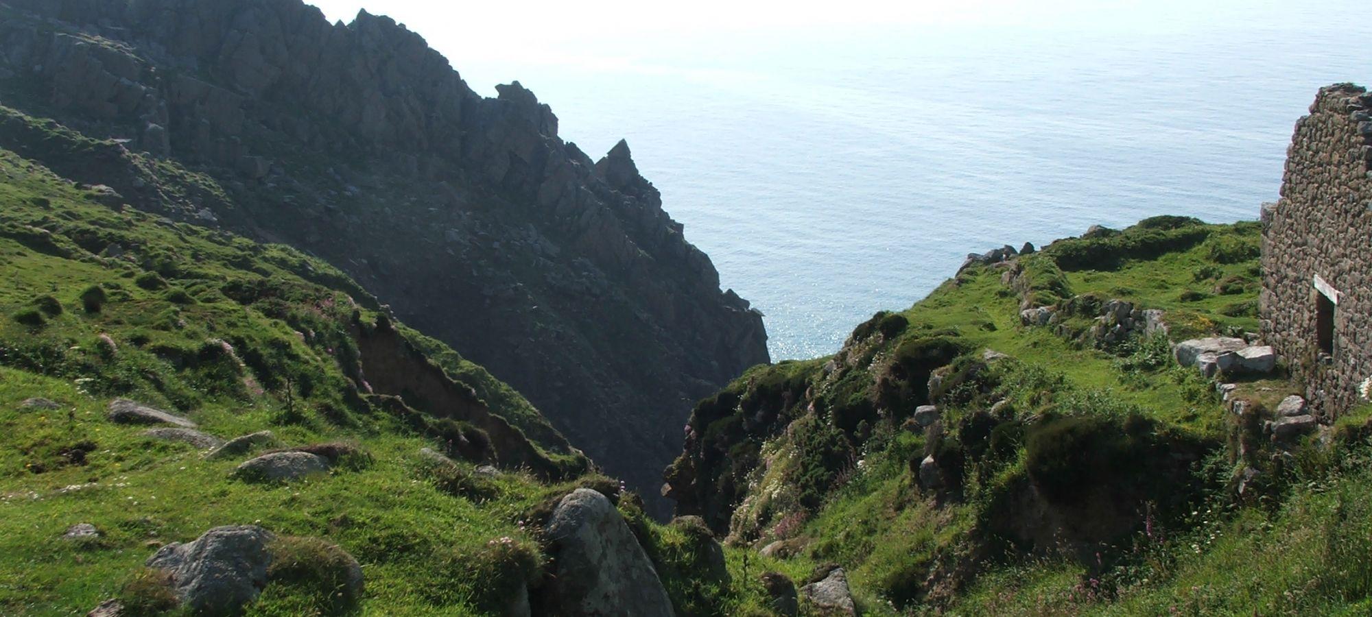 Jagged cliffs near to Bosigran, Cornwall