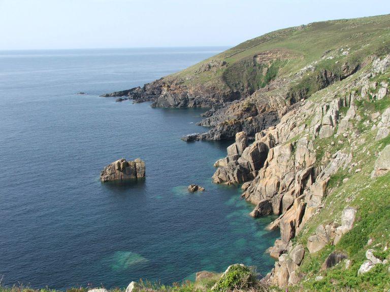 Granite cliffs and calm seas