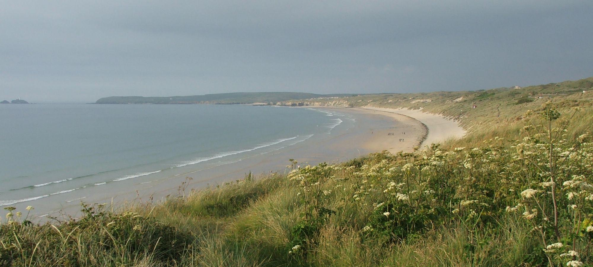 Sand dunes and beach, north coast