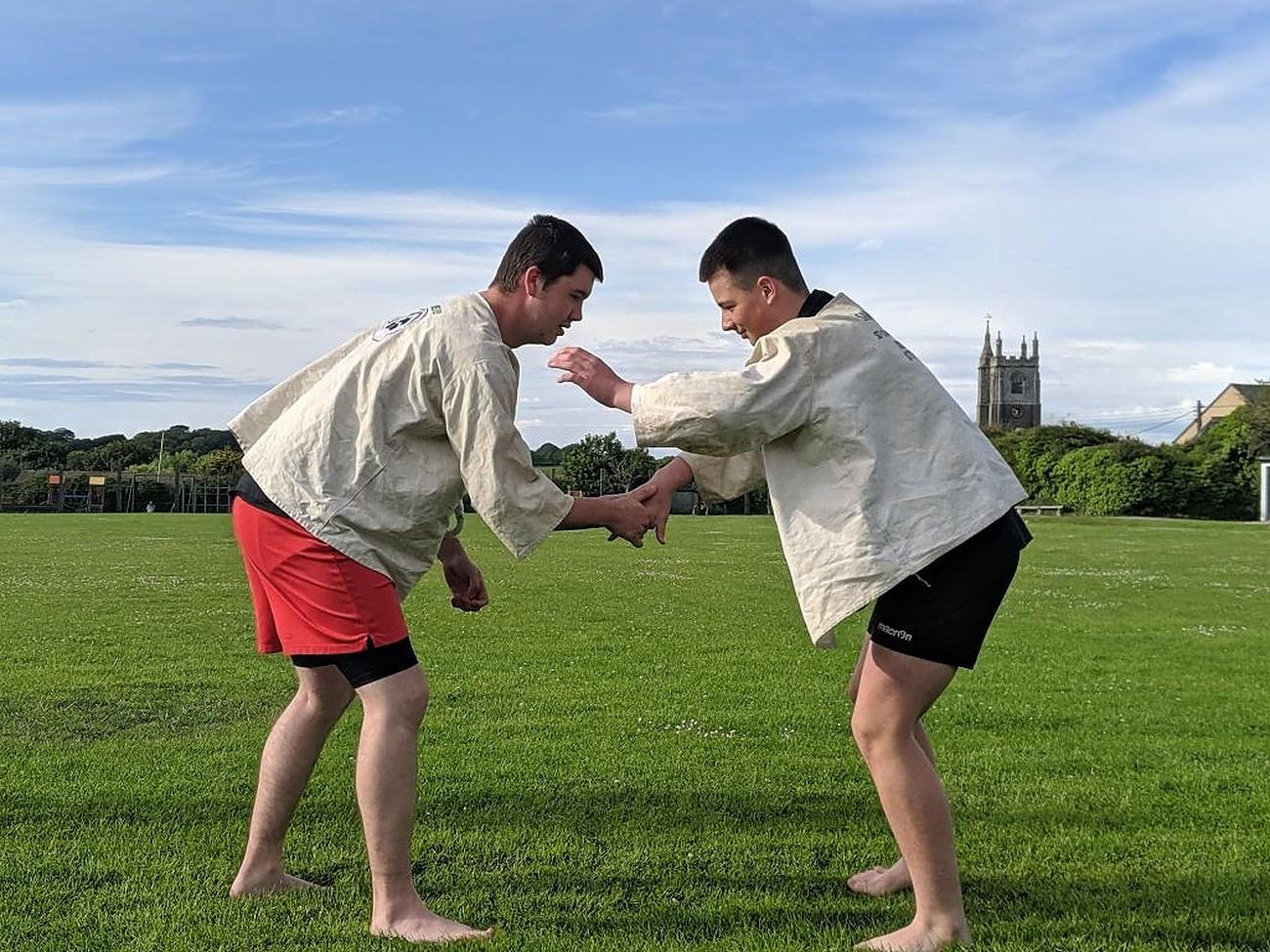 Cornish wrestlers
